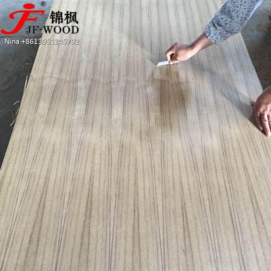 ISO 9001: 2008 China Exported EV Teak Indea Market Natural Teak MID East Veneer Faced MDF Plywood