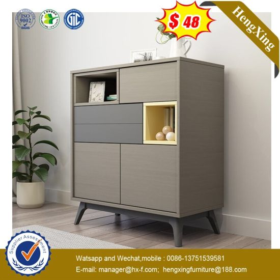 Wood Cabinet Makeup Carboard Dresser with Chair and Mirror (HX-8ND9240)