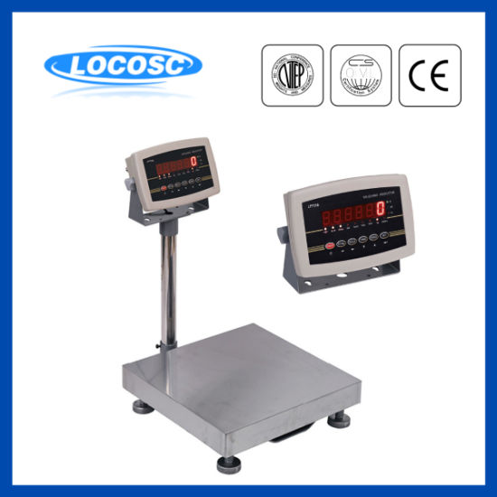 LED Display Stainless Steel Stamping Bench Scale with Printer