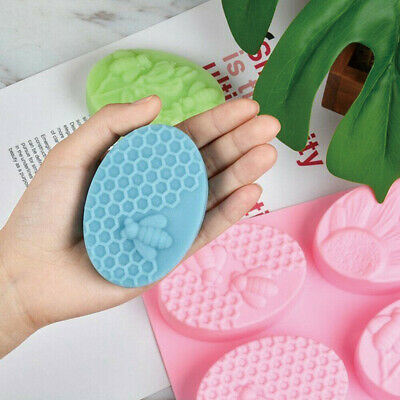 3D Bee Honeycomb Silicone Mold for Soap Cake Handmade