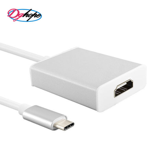 Support 1080P USB 3.1 Type C to VGA Adapter Converter Cable for MacBook