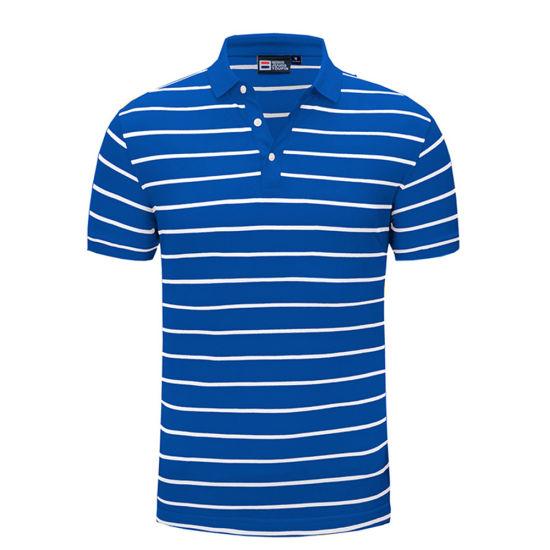 Wholesales Custom Men's Striped Polo Shirt
