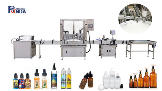 Small Bottles Filling Capping Labeling/Automatic Filling Machine for Small Bottles