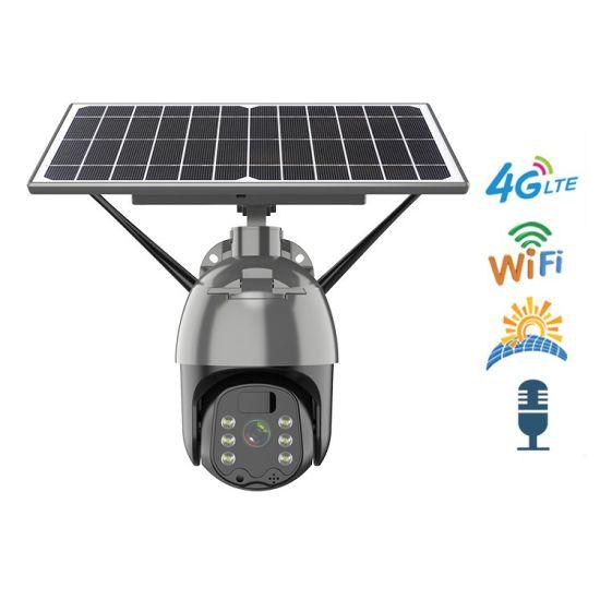 1080P/2MP HD Solar Camera 4G Outdoor PTZ Security Wireless Camera Solar WiFi CCTV Camera 360 IP Camera with Solar Icam+ APP