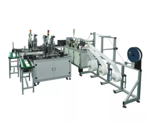 Full Automatic Dust Pure Electric No Cylinder Mask Making Machine with 2 Line