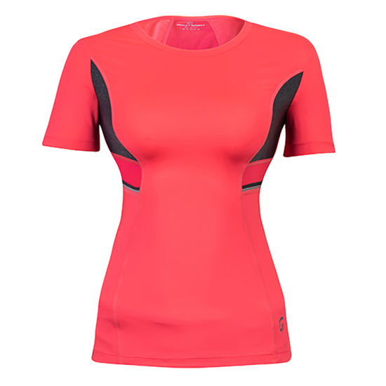 Hi-Viz Decor Breathable Mesh Fabric Yoga Sports Women T Shirts