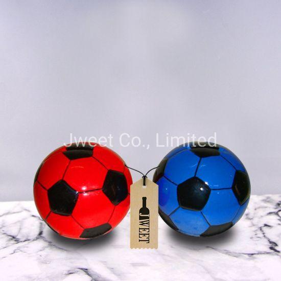 Customized Football Shape Round 700ml Spirit Brandy Ceramic Porcelain Bottle