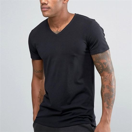 51c37c7f V-Neck T-Shirts Wholesale China Import Plain Black T Shirts - China ...