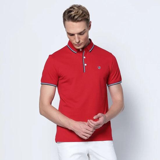 Guangzhou Garment 100% Cotton Pique Polo Shirt Design Custom Polo T Shirt OEM