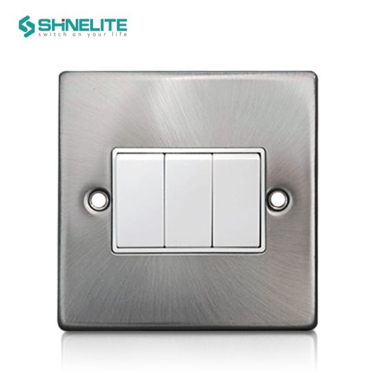 Good Price 3 Gang 1 Way Chrome Color Electrical Switch