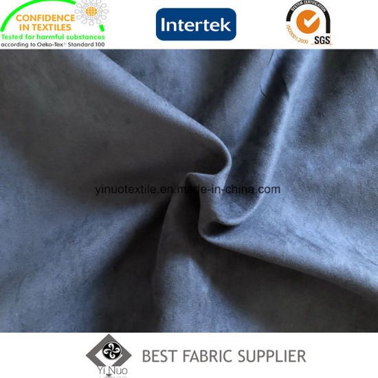 100% Polyester Weft Woven Suede Fabric 150GSM Hometextile Shoe Fabric
