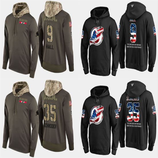 Military USA Flag Devils Taylor Hall Cory Schneider Pullovers Hoodies