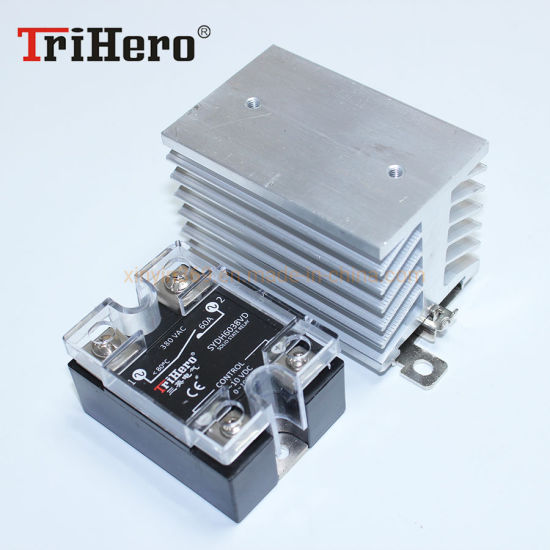 Linear Control Solid State Relay Module, SSR 0-10V, with DIN Rail Mount Heatsink