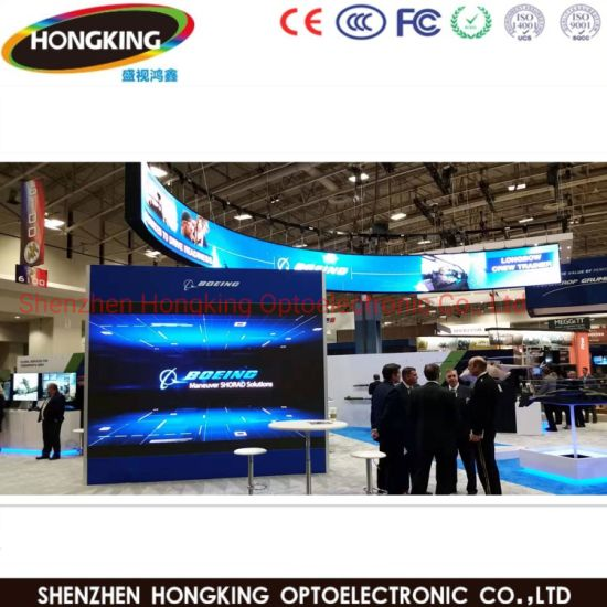 High Defintion P3 P3.91 Full Color Curve /Arc Indoor LED Video Wall for Stage