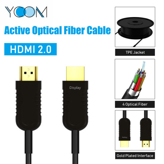 4K Fiber Optic HDMI Cable 40m Support 3D