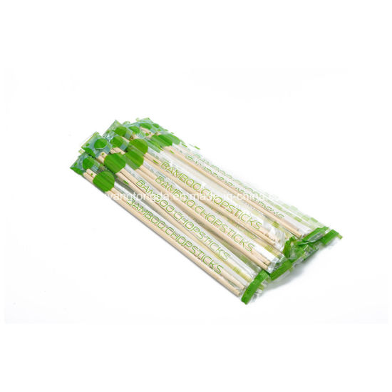 Print Wrapping Plastic with Customer Logo Bamboo Chopsticks for Restuarant