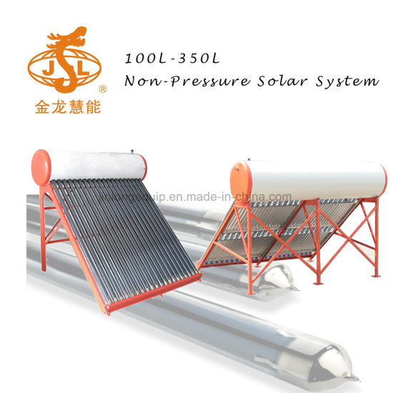 Hot Sell 100L Non-Pressurized Vacuum Tube Solar Energy Hot Water Heater (2-3 people hot water using)