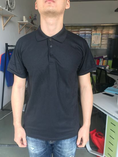 Clear Stock Cheap Price Good Quality Promotional Black Polo Shirt