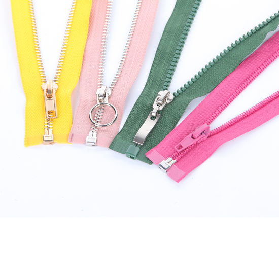 High Quality Metal /Plastic/ Nylon Open End Zipper for Jacket