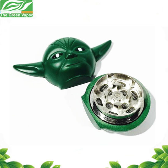 Hot Sale Star Wars Series Spice Grinder Yoda Weed Grinder 3 Pieces 36mm pictures & photos