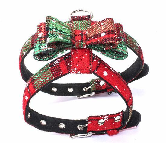 PU Material Adjustable Dog Harness, Christmas Style