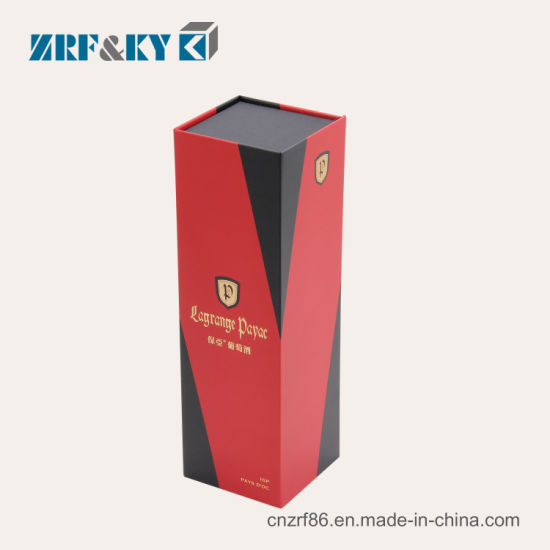 Custom Printed Cardboard/Corrugated Paper Packaging Gift Red/Black/Gold Wine/Liquor/Whisky/Champagne Boxes Wholesale