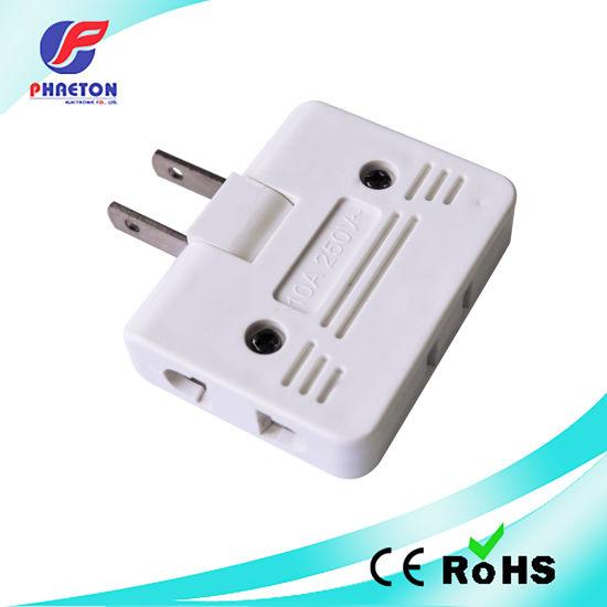China South American Flat 2 Pin Adaptor 3 Way China Power Adaptor Converter Plug