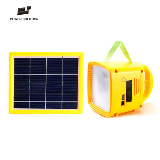Solar Powered Multifunctional Music Camping Lantern with FM Radio MP3 Mobile Charger pictures & photos