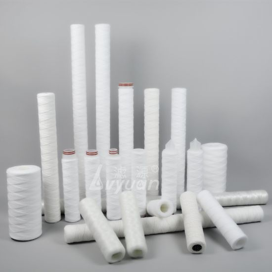 5 Micron PP Sediment String Wound Water Filter Cartridge /Spun Wound Filter
