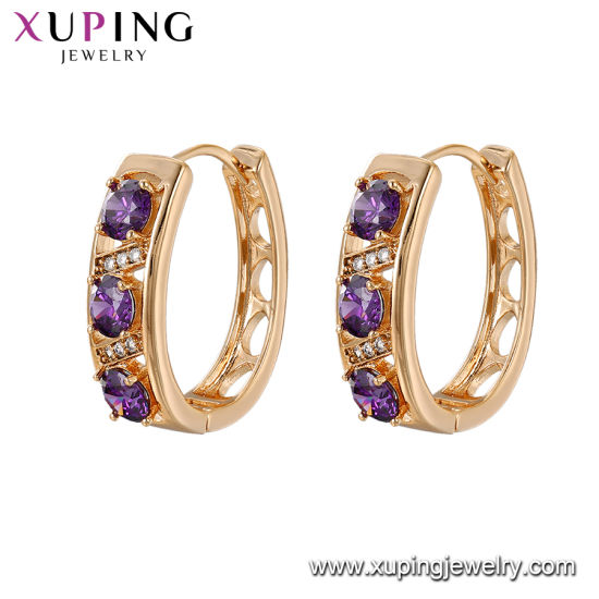 490fafd8e86b54 Fashion Diamond Classic Rainbow Crystal Huggie Gold Plating Colored Self Piercing  Hoop Earrings