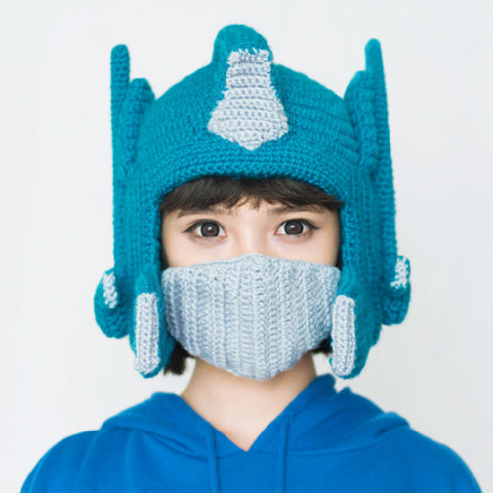 Funny Transformer Handmade Knitting Knitted Winter Hat pictures & photos