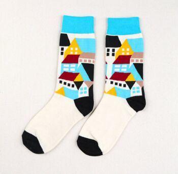 Custom Men's or Women's Fashion Jacquard Knee High Cotton Sock