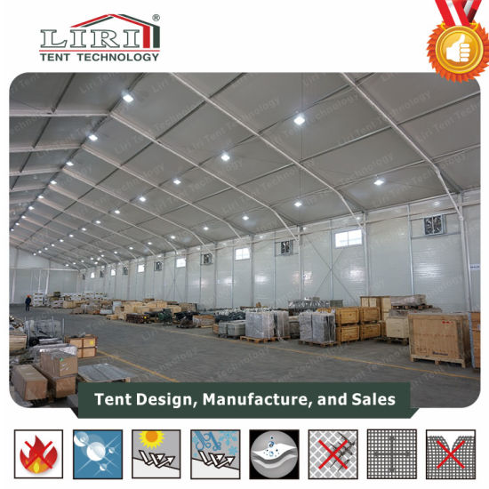 30X100m Aluminum Semi-Permanent Industrial Warehouse Storage Tent pictures & photos