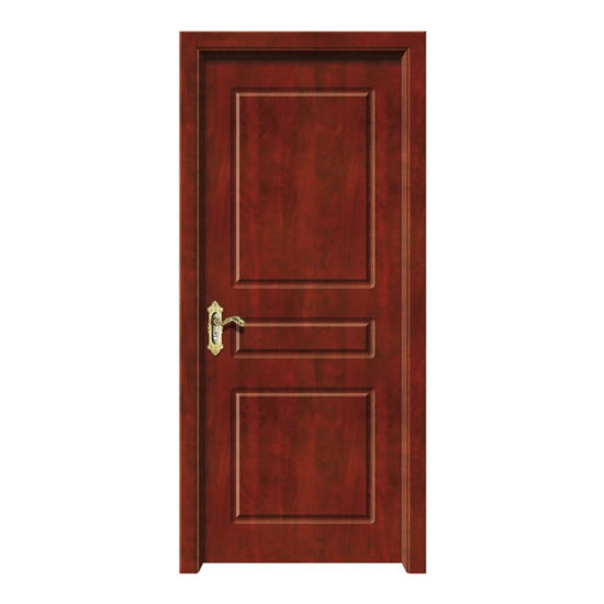 PVC Flat Open Brown Wooden Door with Good Sound Insulation Comes From Jiangshan