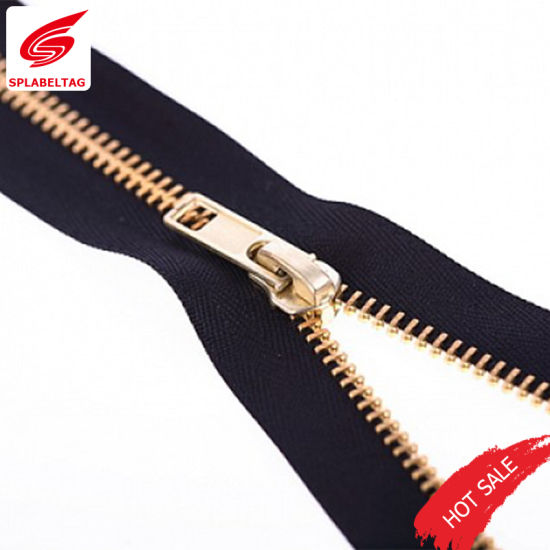 Bronze Teeth Metal Military Boot Zipper for Shoes