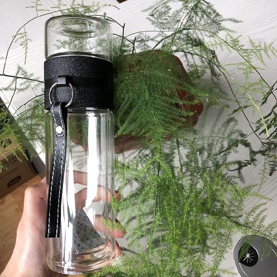 Tea Separation Glass Water Bottle with Stainless Steel Filter 2021 New Design