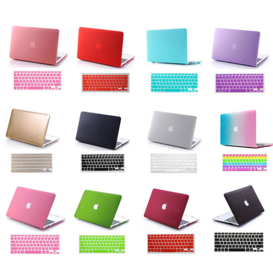 "Rubberized Laptop Hard Case+Keyboard Cover for Macbook Pro13/""15/""Retina Air 11""13"