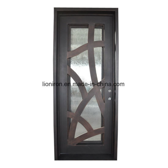 Charmant Lion Wrought Iron Square Top Interior Front Security Door Grill