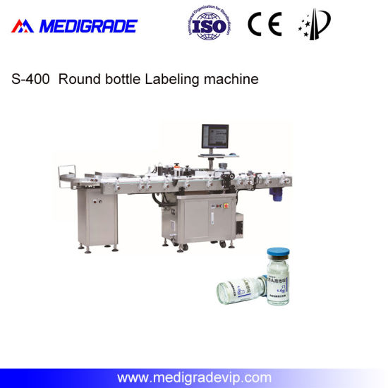 Automatic Labeling Machine with CCD Recognition System for Round Bottle
