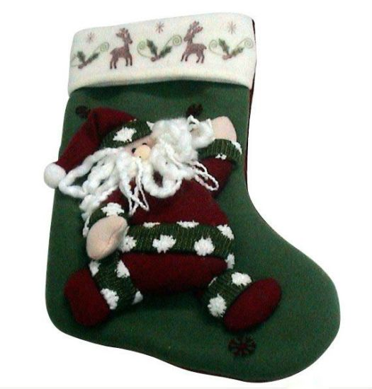 OEM Design Plush Kids Christmas Stocking pictures & photos