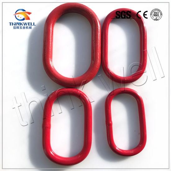 Master Link 1//2 Oblong Alloy Painted Red 7 Pieces