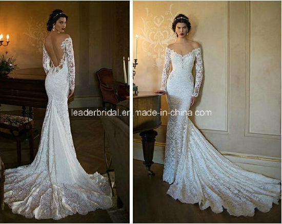 China off-Shoulder Bridal Gowns Lace Backless Berta Wedding Dresses ...