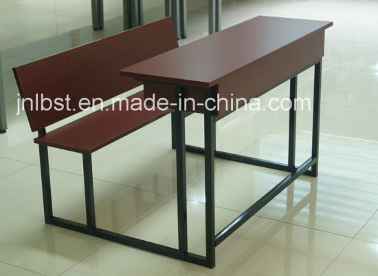 High Quality Double Wooden Desk and Chair Set for Sale pictures & photos