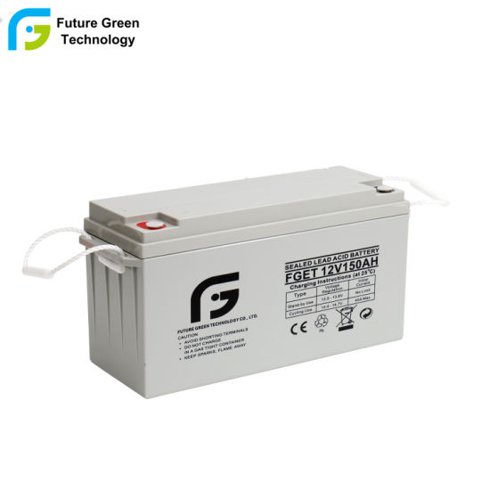 Future Green 12V 150ah Wholesale SLA Solar Power Rechargeable AGM Deep Cycle Storage Battery