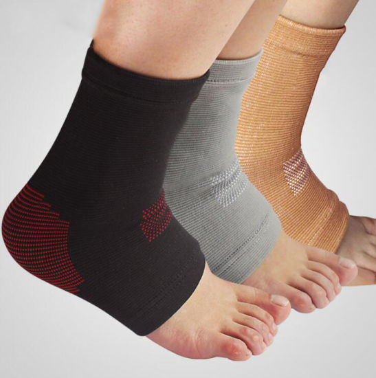 Nylon Custom Logo Knitted Compression Ankle Support Brace