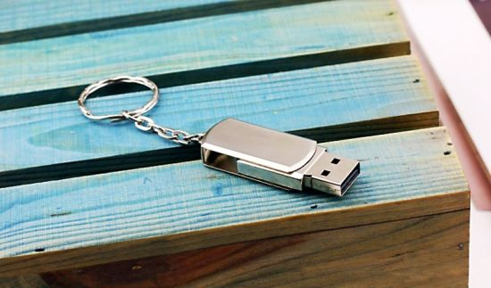 Stainless Steel Rotating USB Flash Drives Pen Drive8GB (TF-0122) pictures & photos