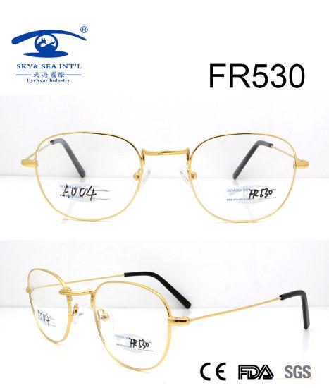 21918f167524 China Round Shape Gold Metal Optical Frame (FR530) - China Metal ...