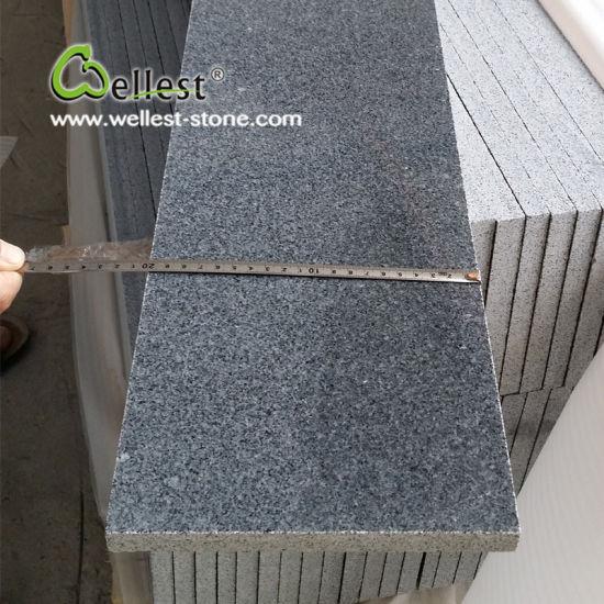 China Dark Grey Polished Granite Floor Tile With Good Price China