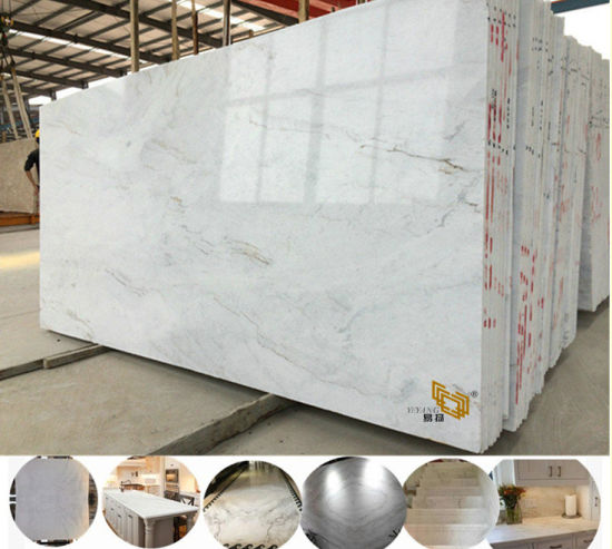 Cheap Polished Castro White Stone China Marble for Engineered/Kitchen/Bathroom/Benchtop/Vanitytop