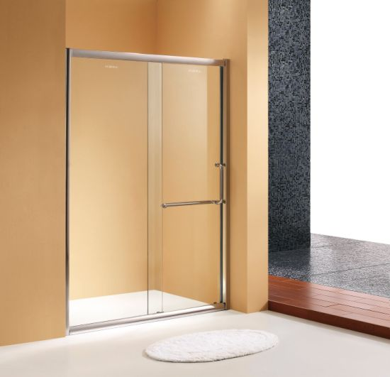 China 1/4′′ Clear Glass Aluminum Frame Sliding Shower Door with ...